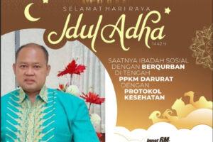 Iklan ucapan Idul Adha PDAM jayapura