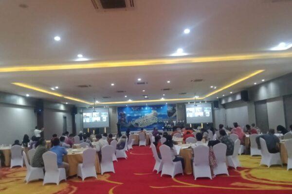 Suasana Bedah Buku 'Jayapua Emas di Tahun 2030' berlangsung di Suni Garden Lake Hotel and Resort Hawaii Sentani.