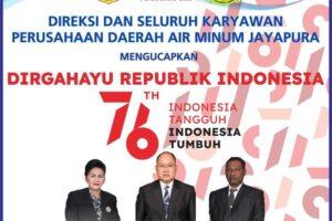Iklan Ucapan HUT Kemerdekaan RI ke-76 dari PDAM Jayapura