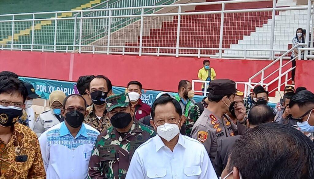 Menkopolhukam RI Dan Mendagri cek kesiaoan venue PON di Kabupaten Merauke